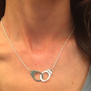 Auth sterling silver 925 chain baby handcuff